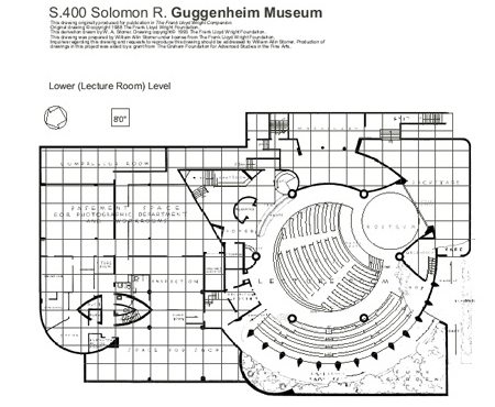 ... Guggenheim Museum Section On Frank Lloyd Wright Home Plans ...