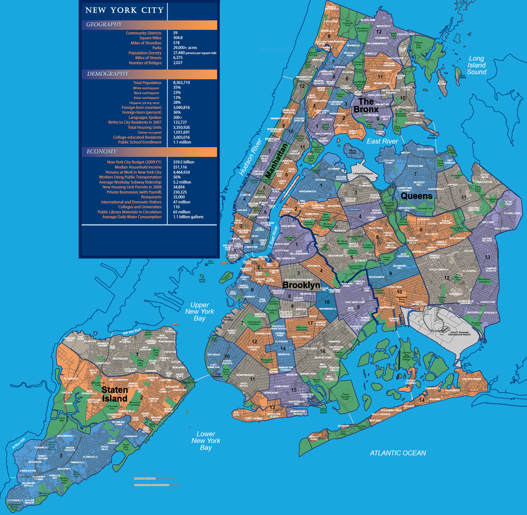 New York City Neighborhoods Map   WoD Gotham